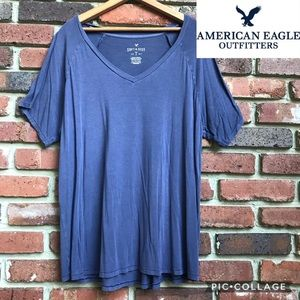 American Eagle Soft & Sexy Purple Women's Tee